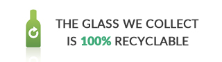 the glass we collect is 100 percent recyclable